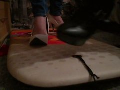 High heels surf board crush