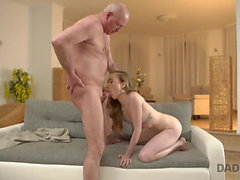 DADDY4K. Curious babe wanted to see cock of her boyfriend's