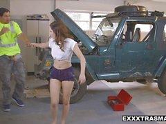 ExxxtraSmall - Horny Teen Fucked By Mechanic