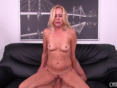 Busty blonde mom Payton Leigh has a young stud satisfying her desires