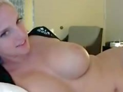 Blonde chating on social websites