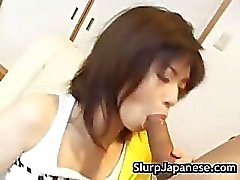 Kurumi katase sexy asian sucking cock part2