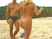 Cute Teen Blonde fuck in Beach