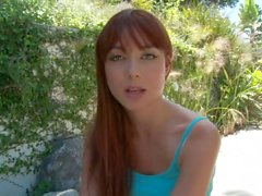 A Beautiful Redhead wants to try a Big one.