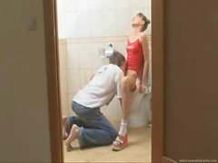 Brother And Sister In Toilette