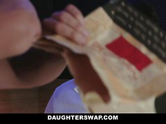 DaughterSwap Teens Tricked Into Fucking Dads Best Friend