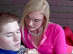 Stepmom MILF takes advantage of teens