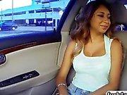 Dirty Latina slut Sarai fucks a stranger