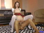 Petite british schoolgirl pounded by senior