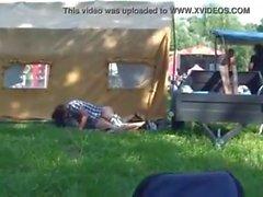 Slut teen fucks at a festival