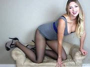 Jerk Off Instructions By Gorgeous Blonde