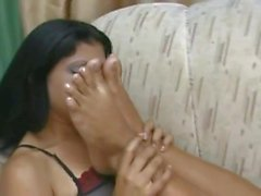 Intense Soles Sniffing between 2 Young Brazilian Lesbians