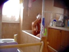 Young women shower