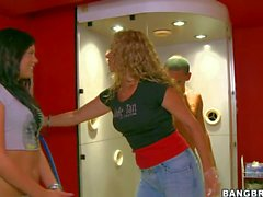 Tanned young babe Madison Parker has fun with hot boy