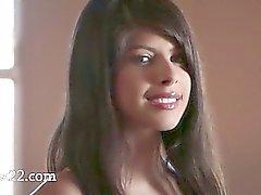 busty brunette strip her pussy