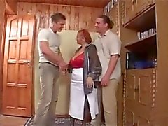 Granny and two young men - 4