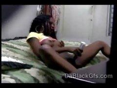 Hidden camera caughty horny Cristina pleasing herself in her room