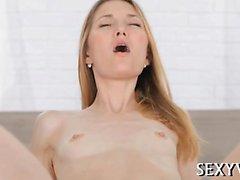 Teen chick enjoys hardcore screwing of her virgin fur pie