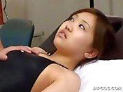 Asian charmer getting tits massaged