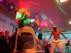 Cfnm teen blows stripper