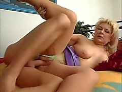 Mature in ripped pantyhose fucked in the vagina
