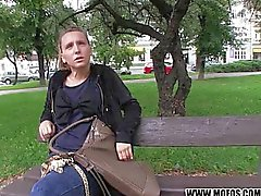 Natural czech girl is paid for sex
