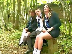 Brit Teen Sluts 3Some