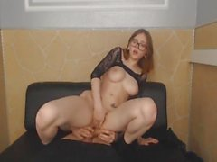 Nerdy College Babe Gets Her Pussy Fucked