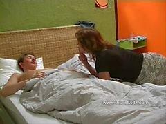 Horny Mom Seduces Her Sleeping Son