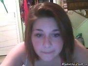 Busty teen masturbates in front the webcam