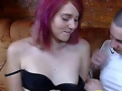Russian couple making up