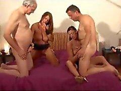 German group sex and fun cumshots