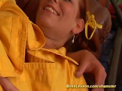 redhead teens first anal lesson