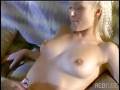 Sweet young blondie chick opens her legs wide for easy cock entry