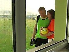 Filipino teen boy squirt cum Dutch football player nailed by