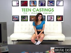 18YO teen girl Ava gets brutal casting