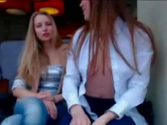 Hot Amateur European Teens Flashing Pussy n Tits in Pub - sexcamzvideos com