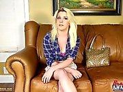 Big boob teen girl at porn audition masturbating