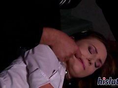 Kinky schoolgirl gets fingered and spanked