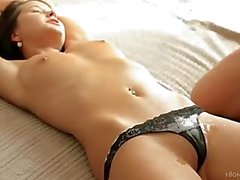 Tight Brunette is Massaged and Fucked