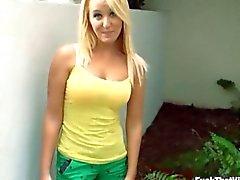 Pretty blonde girlfriend Tucker Starr first anal sex at home