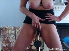 Sensual Big Breasted Slut Squirting Her Juicy Vagina