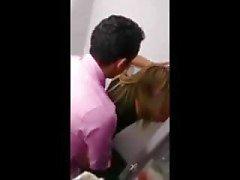 Arab fucks white teen in toilet