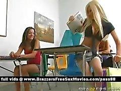 Hot blonde schoolgirl at school