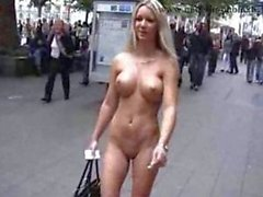 Hot blonde nude in public part2