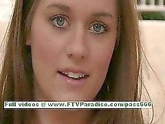 Hayley awesome brunette teenage public flashing tits