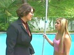 Lesbian Older Women Kayla Queen & Younger Girl Kat.