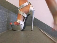 sissy learns to wear stiletto heels from his indian wife cuckold angust