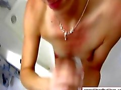 Small tits amateur teen working a big cock