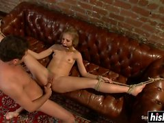 Hot babe gets clipped and slammed